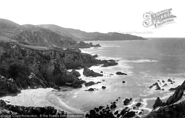 Mortehoe, Morte Point from Bull Point c1900