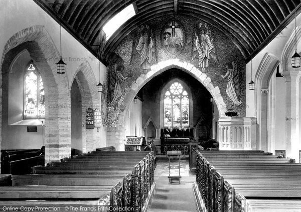 Mortehoe, the Church of St Mary Magdalene, interior 1935