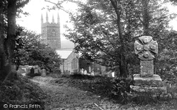 Morwenstow, Church Of St Morwenna And St John And Cross 1910