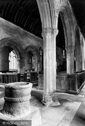 Morwenstow, The Church Font 1910