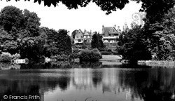The Lake, Moseley Private Park c.1965, Moseley