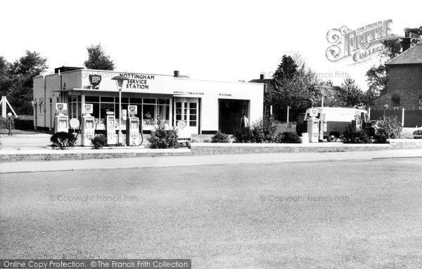 Mottingham, the Service Station c1965