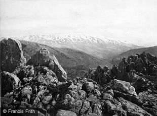 Mount Hermon, the Mount of Transfiguration c1867