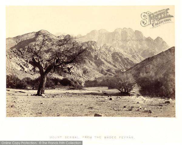 Photo of Mount Serbal, From The Wadee Feyran, Sinai 1858