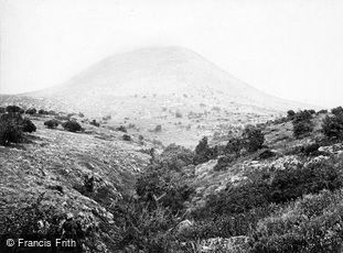 Mount Tabor, where Deborah and Barak assembled forces c1867