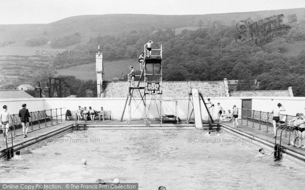 Mountain Ash, Swimming Baths c1955