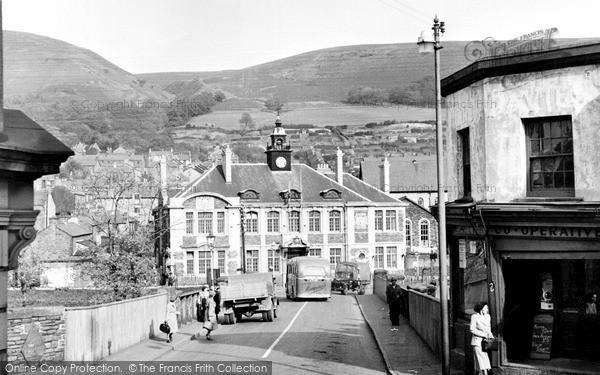 Photo of Mountain Ash, Town Hall And Bridge 1950