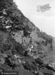 Mousehole, Climbing Up From Cave 1927