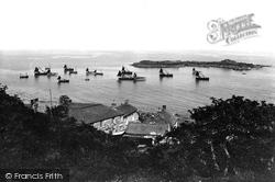Mousehole, Fishing Fleet And Island 1927