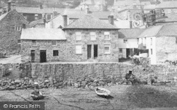 Mousehole, The Wharf, Cottages 1893