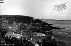 View From Raginnis Hill c.1955, Mousehole