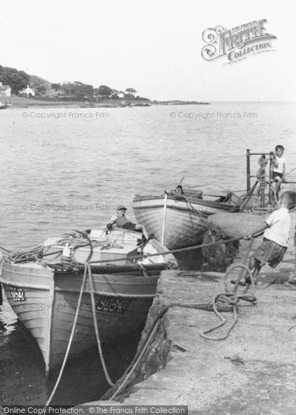 Photo of Moville, Lough Foyle, Boy Pulling In A Boat c.1960