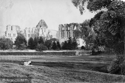 Abbey From Fields c.1880, Much Wenlock