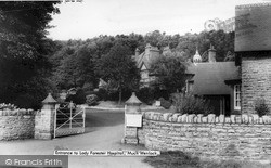 Entrance To Lady Forester Hospital c.1960, Much Wenlock