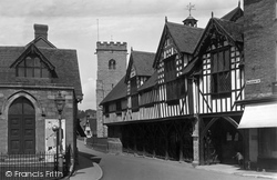 Guildhall And Holy Trinity Church 1936, Much Wenlock