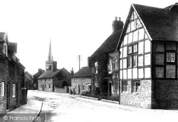 Manor House And Holy Trinity Church 1911, Much Wenlock