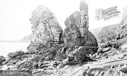 Muchalls, The Coast 1890
