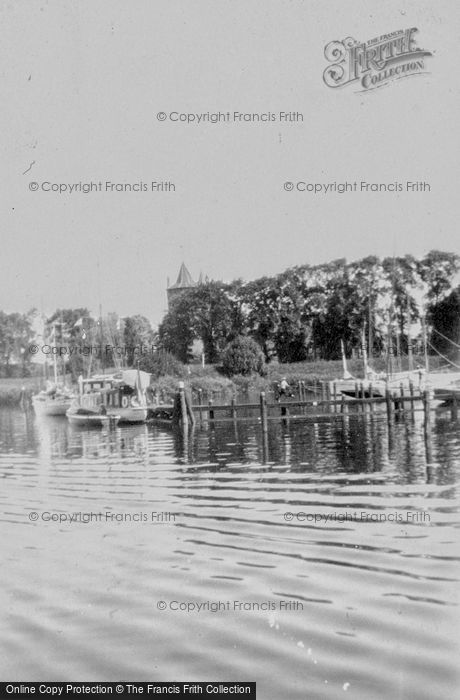 Photo of Muiden, A Glimpse Of Muiderslot From Water c.1930
