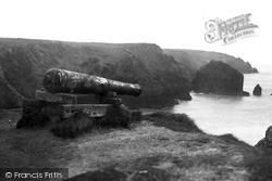 Mullion, Cannon On Cliff c.1955