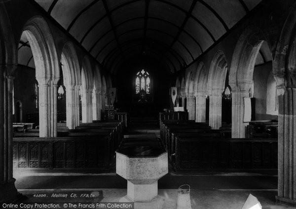 Photo of Mullion, Church Interior 1899