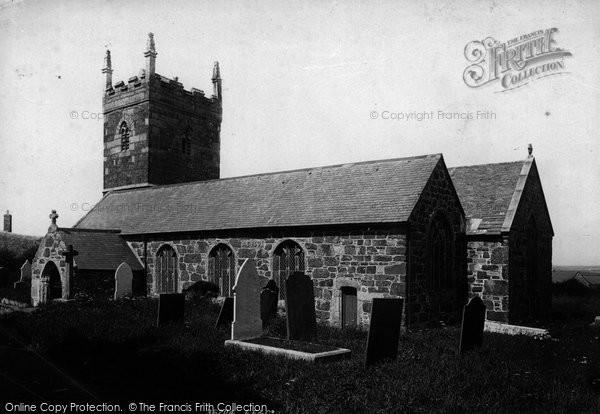 Photo of Mullion, Church Of St Mellanus 1895