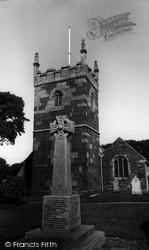 Mullion, Memorial And Church Of St Mellanus c.1960