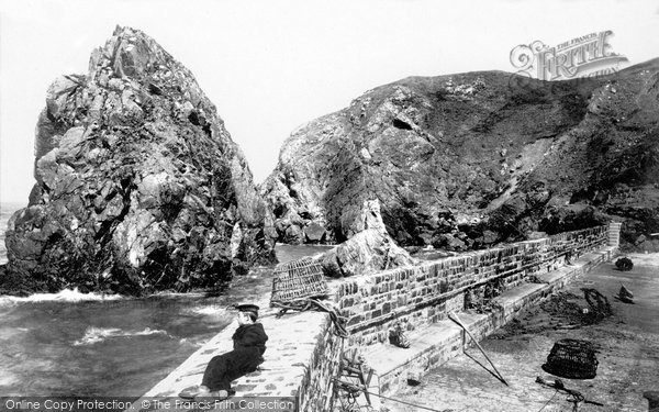Photo of Mullion, Pier Head And Ear Rock 1899