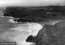 Mullion, Polurrian Cove From Cliffs c.1955