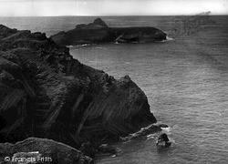 Mullion, The Cliffs c.1955
