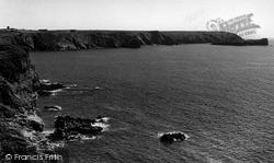 Mullion, The Coast And Mullion Island c.1955