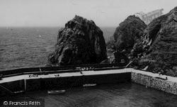Mullion, The Cove Jetty c.1955