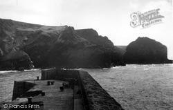 Mullion, The Cove Pier c.1955