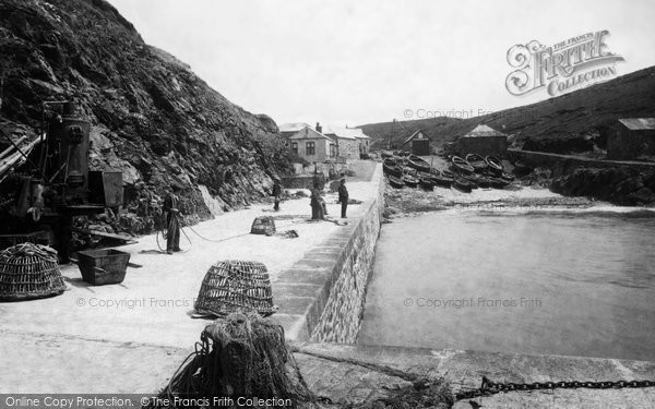 Photo of Mullion, The Lifeboat House 1899