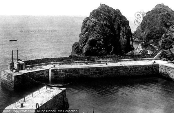 Photo of Mullion, The Pier And Ear Rock 1899