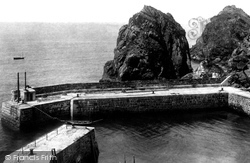 Mullion, The Pier And Ear Rock 1899