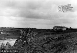 Mullion, The Rocks And Polurrian Hotel c.1955