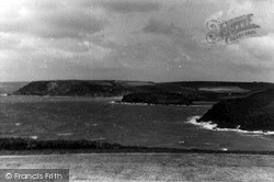 Mullion, View North From Poldhu Hotel Terrace c.1955