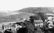Mumbles, view from Oystermouth Castle c1955