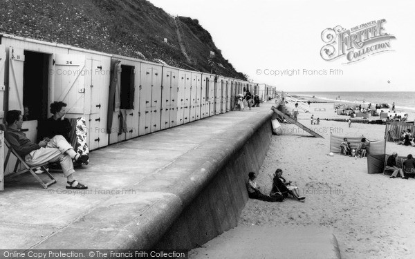 Mundesley, Beach Huts c.1965