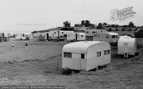 Photo of Mundesley, Kiln Cliffs Caravan Site c.1960
