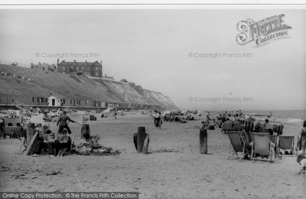 Photo of Mundesley, The Beach c.1955