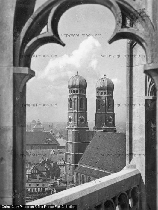 Photo of Munich, Cathedral From The Town Hall c.1935