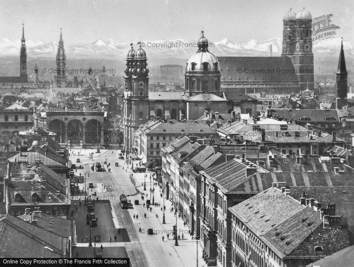 Photo of Munich, View Of Ludwig Church c.1935