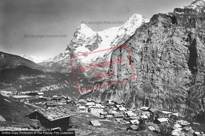 Photo of Murren, Eiger And Monch c.1930