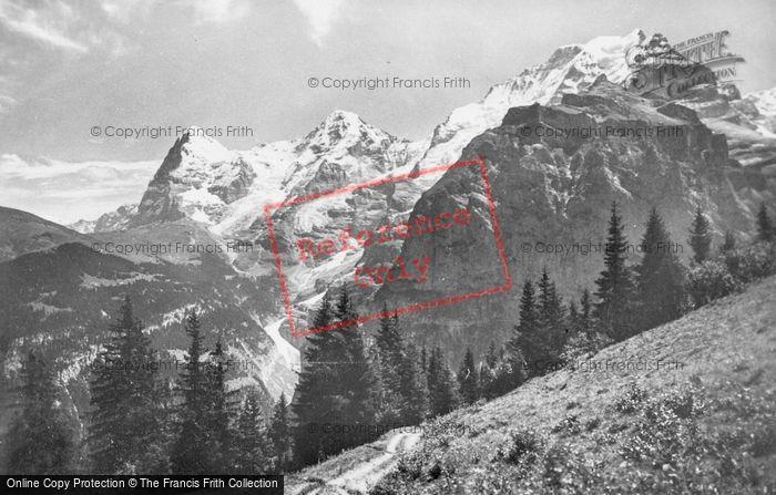 Photo of Murren, Eiger, Monch And Jungfrau c.1930
