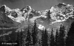 Eiger, Monch And Jungfrau c.1930, Murren