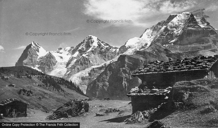 Photo of Murren, Eiger, Monch And Jungfrau c.1935