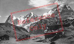 Eiger, Monch And Jungfrau c.1935, Murren