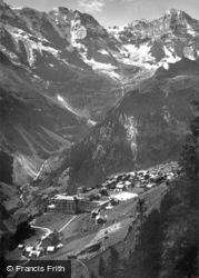 Grosshorn, Monch And Jungfrau c.1930, Murren