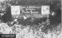 The Ashe House Entrance c.1965, Musbury